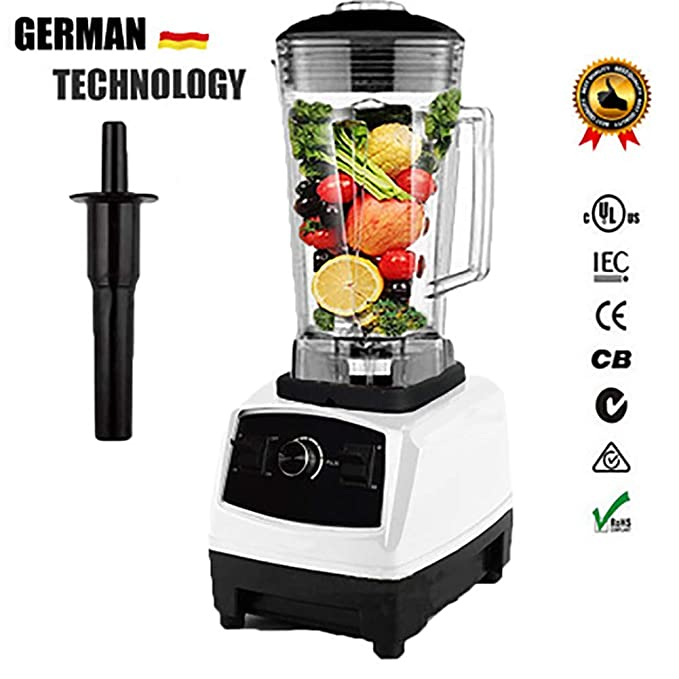 ZYFWBDZ Juicers Juicer Bpa Free 2200w Heavy Commercial Household Blender Food Processing Mixer Japan Ice Cap Extruder Ice Cream Machine 110v~240v,White