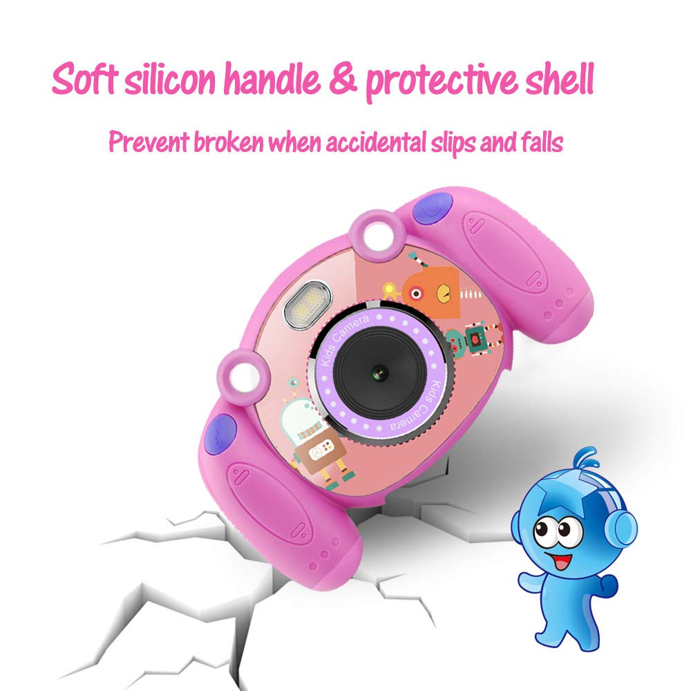 denicer Kids Camera Children Camcorders HD 2 Inch Screen with Mic, SD Card Non-Slip and Anti-Drop Design Children's Camera Taking Videos and Photos for Girls & Boys Birthday Gift by denicer (Image #6)