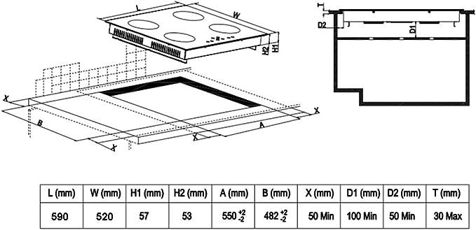Amazon.com: Windmax Nueva 23 inch 220 V, 6800 W placa de ...