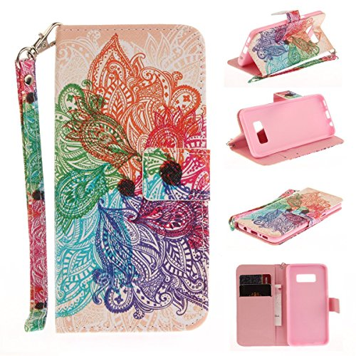 4 Case, [Peacock Flower][Kickstand Feature][Money Card Slot] [Double Sided Design] Premium Soft TPU Synthetic Leather Wallet Filp Case Cover For Samsung Galaxy Note 4 ()