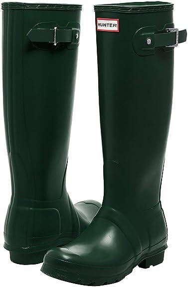 7d802af1e71 Hunter Women's Original Tall Green Rain Boots - 7 D(M) US