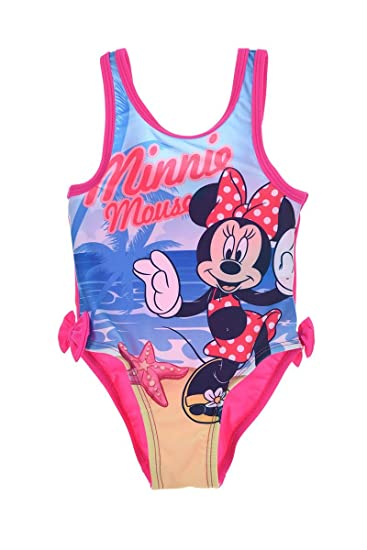 TRAJE DE BAÑO 1 PIEZA MINNIE MOUSE FUCSIA 6 M: Amazon.es ...
