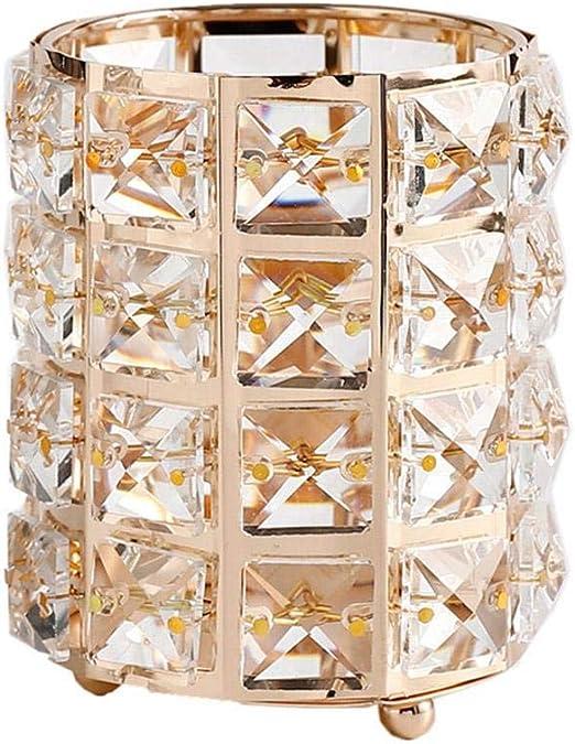Organizador de brochas de maquillaje de plata, caja dorada con ...