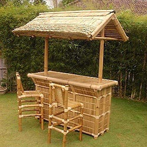 fantasie d oriente Mobile Bar Bambu Juego 3 Piezas Muebles jardín ...