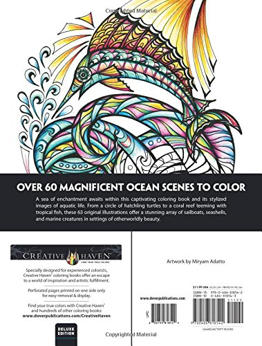 Creative Haven Deluxe Edition Magical SeaScapes Coloring Book (Adult Coloring)