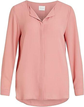 Vila Luxury Fashion Clothes Mujer 14044253PINK Rosa Camisa | Temporada Outlet: Amazon.es: Ropa y accesorios