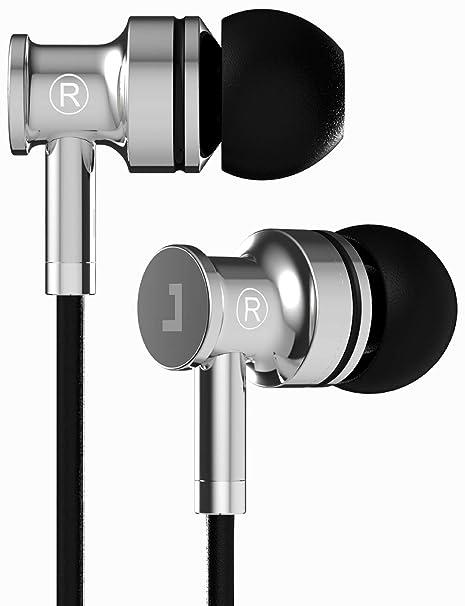 Metal Ear Headphones Earphones with Mic Remote Heavy Bass Noise Isolating NEW UK