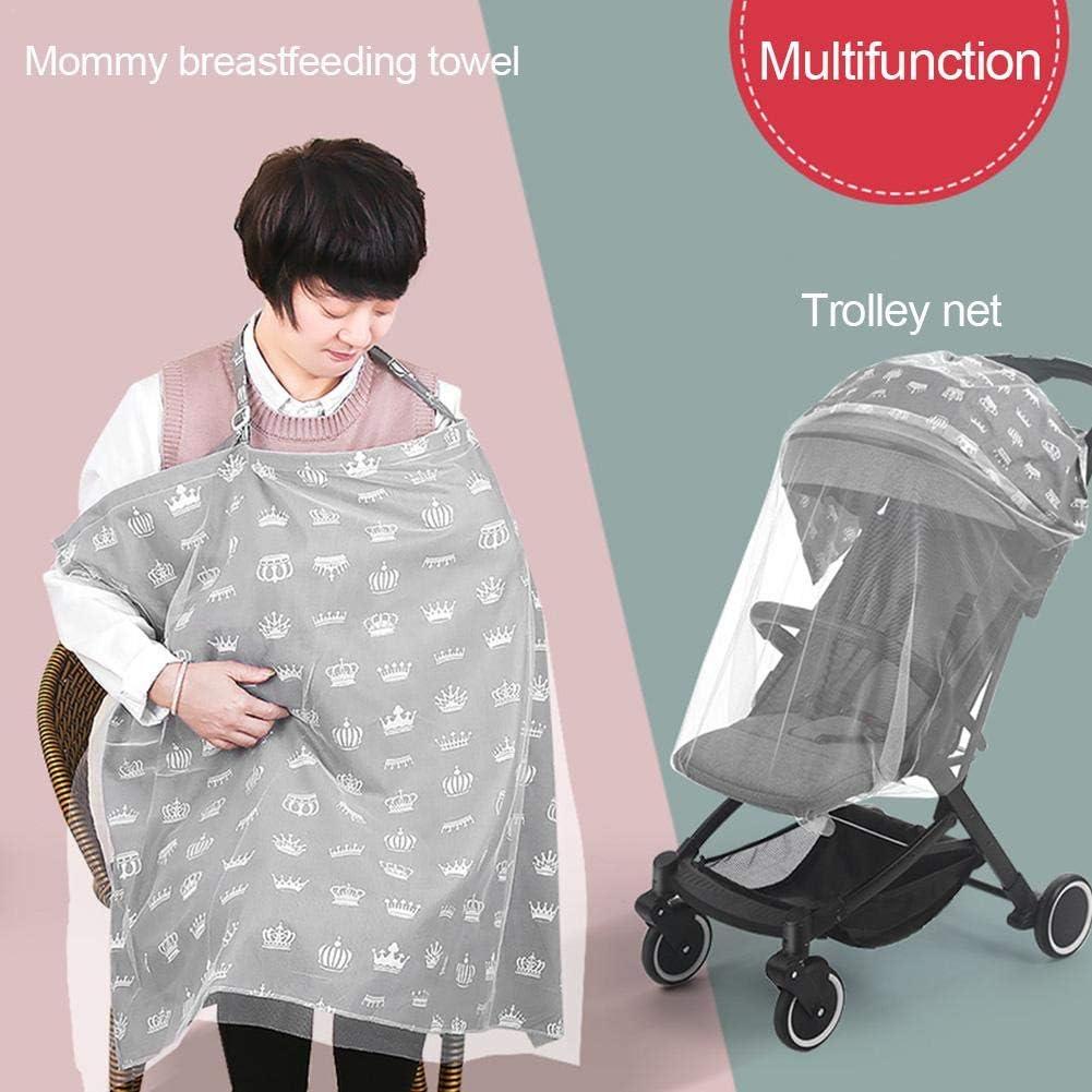 WXGY Baby Stillhandtuch Mehrzweck-Handtuch Oberbekleidung Sommer Umhang Artefakt Kinderwagen Moskitonetz praktisch