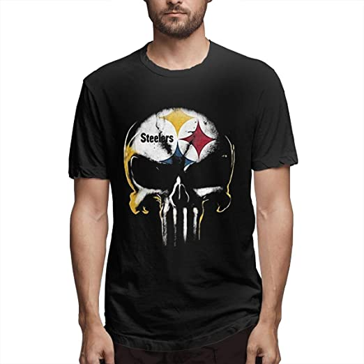 finest selection a0b7d 910b5 NIANKKA PASINMIN Skull Pittsburgh Steelers Shirts Short ...