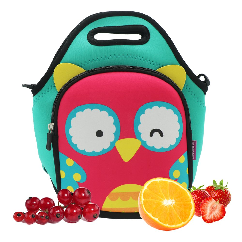 Castle Story Neoprene lunch bag for toddler boys girls ,Lightweight and Waterproof and Insulated,Reusable,Foldable,Washable Fresh and Fit Lunch Tote For Kids, Lovely Lunch Bag Carrier Travel Bag