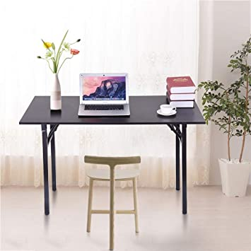 Modern Flat Folding Laptop Computer Desk Foldaway Home Office Wooden Study Table