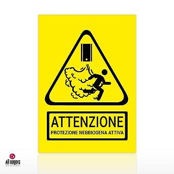 Adhesivo nebbiogeno Cartel Adhesivo de señalización ...