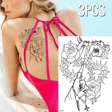 Handaxian 3pcs Tigre Pantera Negra Tatuaje boceto diseño de ...