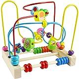 Giochi di Bead Maze in legno Roller Coaster Animale Puzzle Giocattoli con 40 pezzi Beads per Bambini