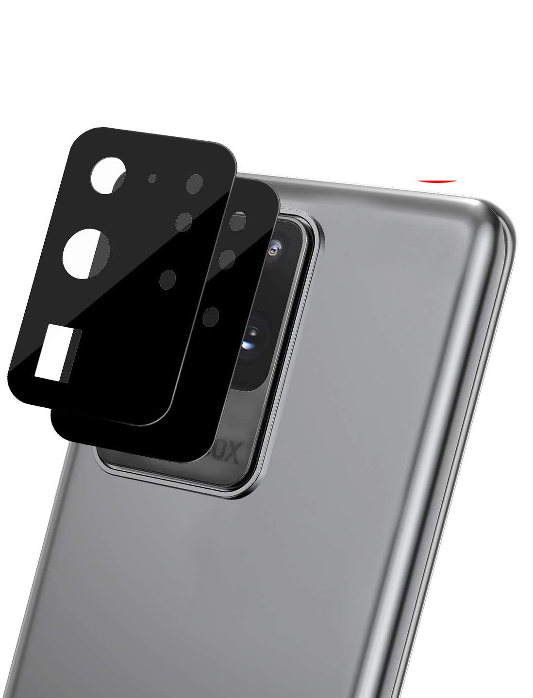 [ 2 Pack] OEAGO Camera Lens Protector for Samsung Galaxy S20 Ultra Screen Protector Tempered Glass, Easy Install 9H Hardness HD-Black