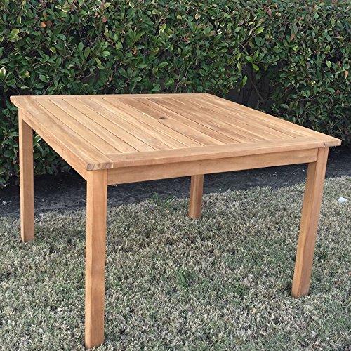 Teak Square Table - Cambridge-Casual AMZ-320283T Arie Teak Square Dining Table, Natural