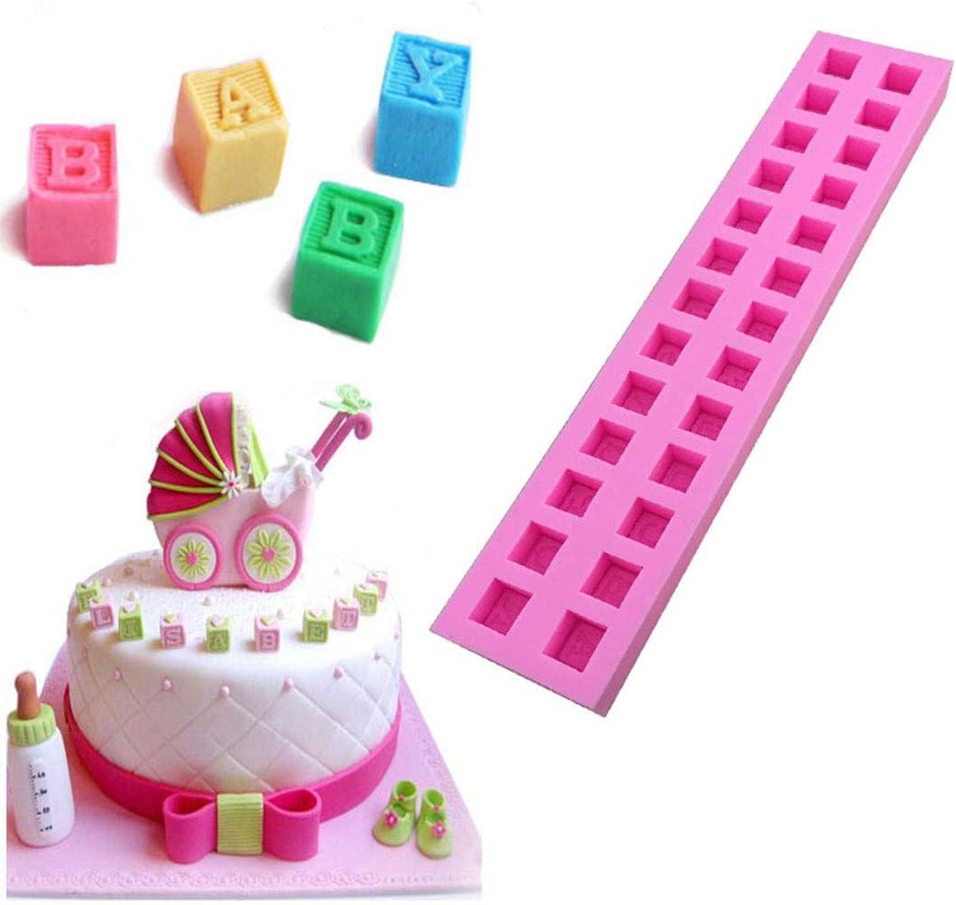 Capital Letters Silikon Kuchen Fondant Plätzchen Schokoladen Verzieren Formen
