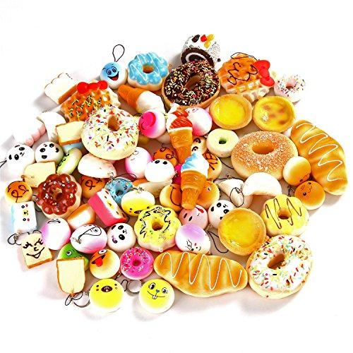 Squishy Uae : Sea Team 6-Piece Mixed Lot Soft Mini Kawaii Food Squishies Bread Ice Cream Doughnut Custard Tart ...