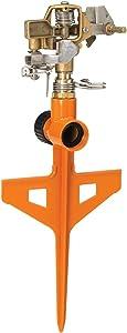 Dramm 15062 ColorStorm Premium 6-Inch Metal Stake Impulse Sprinkler, Orange