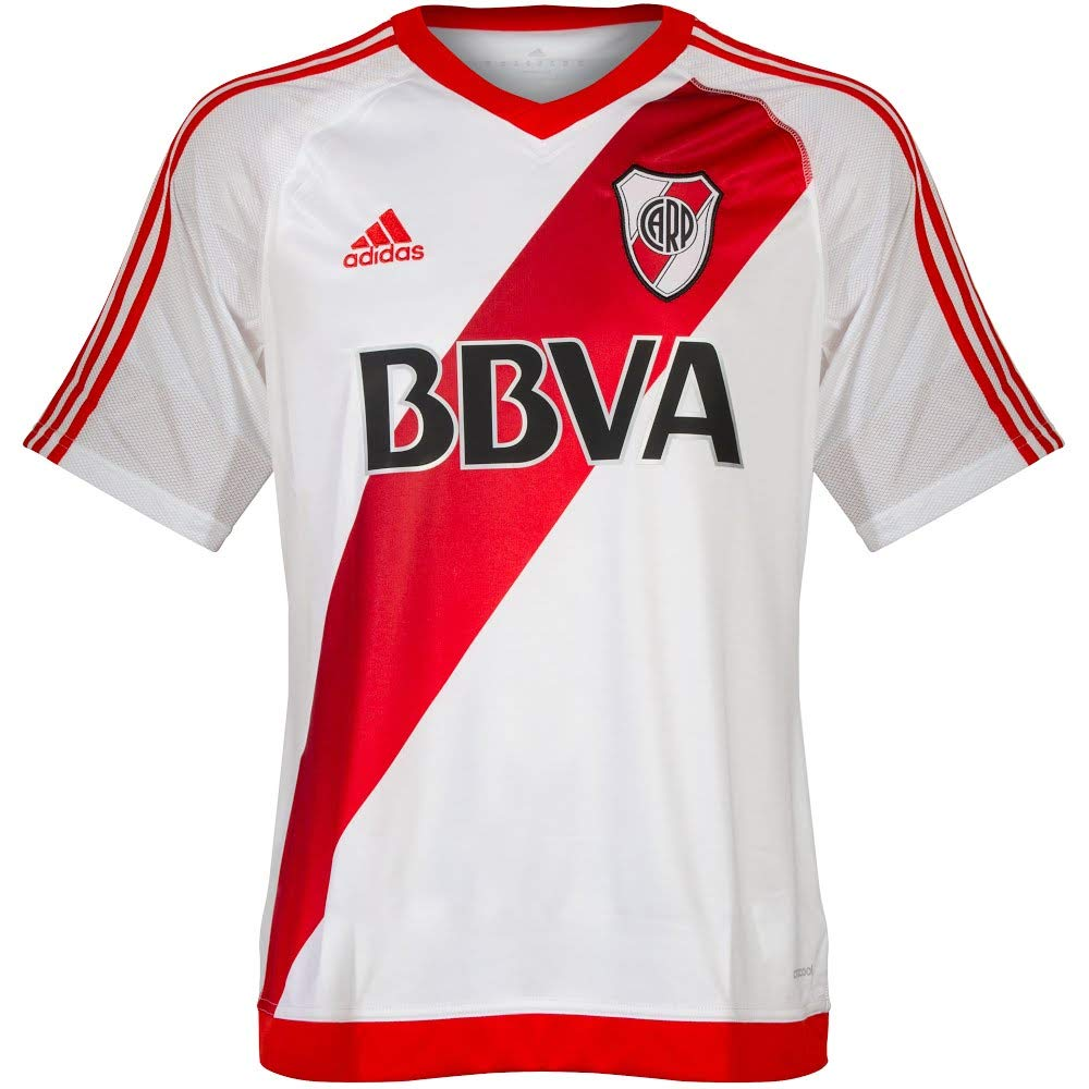 new style c9e9c ad86e Amazon.com   adidas River Plate Jersey Shirt Home 20162017   Sports    Outdoors