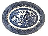 "Churchill Blue Willow Platter 14.5"" x 11.5"""