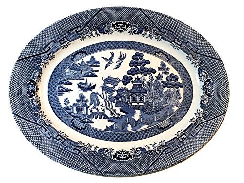 Churchill Blue Willow Platter 14.5