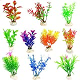 Best Fish Tank Decorations - 10 Pack Artificial Aquarium Plants-Small Size 4 to Review