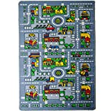 5 feet by 7 feet rug - Kids Rug City MAP Area Rug 5' x 7' Children Area Rug for Playroom & Nursery - Non Skid Gel Backing (59