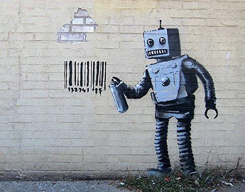 Robot by Banksy Urban Street Graffiti Print Poster 11x14