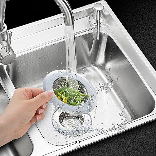 2pcs stainless steel kitchen sink strainer large wide rim - Kitchen sink rim ...