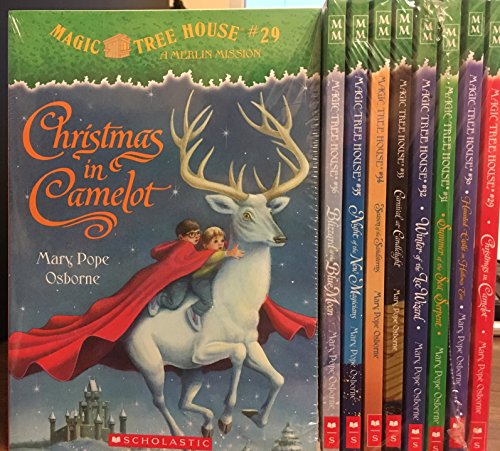 Magic Tree House set (#29-36) Christmas Camelot / Haunted Castle Hallows Eve / Summer Sea Serpent / Winter Wizard / Carnival Candlelight / Season Sandstorms / Night New Magicians / Blizzard Blue Moon