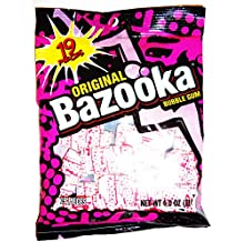 Bazooka Original Bubble Gum, 19 Piece Bag (4 Oz.)