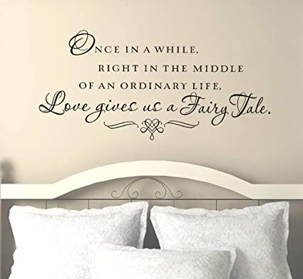 Amazon.com: Master Bedroom Wall Decals - Love Gives Us A Fairy Tale ...