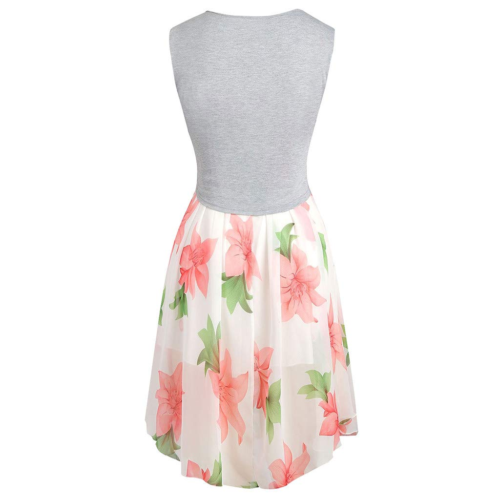 Amazon.com: 2019 New Dress, 2Pc Womens Summer Print Sleeveless Dress: Clothing