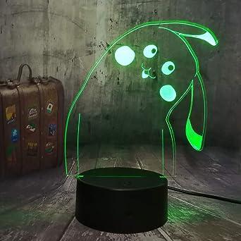 La ilusión óptica de la lámpara visual 3d de wangZJ llevó la luz ...
