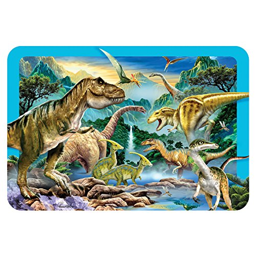 Howard Robinson Super 3D Moving Animal Placemat, Dinosaur Valley, Size 16.9