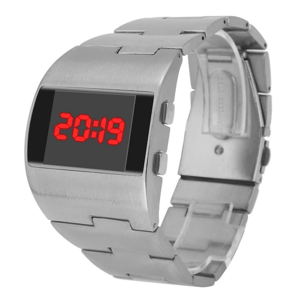 Reloj Hombre, Reloj Deportivo Digital para Hombre, Correa Ancha de ...