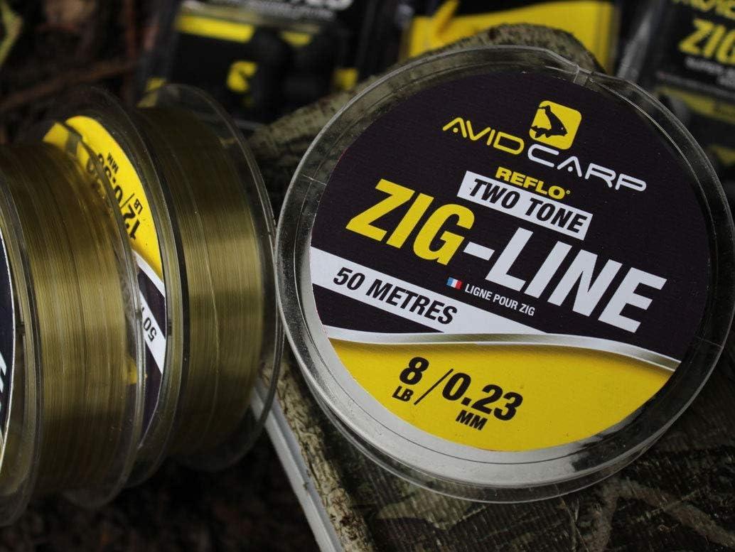 avl//02 Avid Carp Reflo Two Tone Zig Line 10lb 0.26mm
