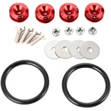 XCSOURCE JDM Quick Release Fasteners For Car Bumpers Trunk Fender Hatch Lids Kit (Red) MA426