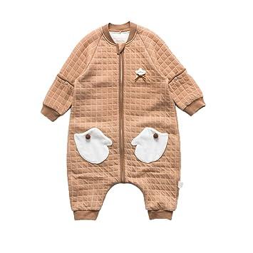 FENPING-Baby jumpsuit Mono De Bebe Pijamas De Bebe-Saco De Dormir para Bebés Niño Recién Nacido con Funda Desmontable Aire Acondicionado Traje De Una Pieza: ...