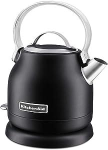 KitchenAid KEK1222BM 1.25-Liter Electric Kettle, Black Matte (Renewed)