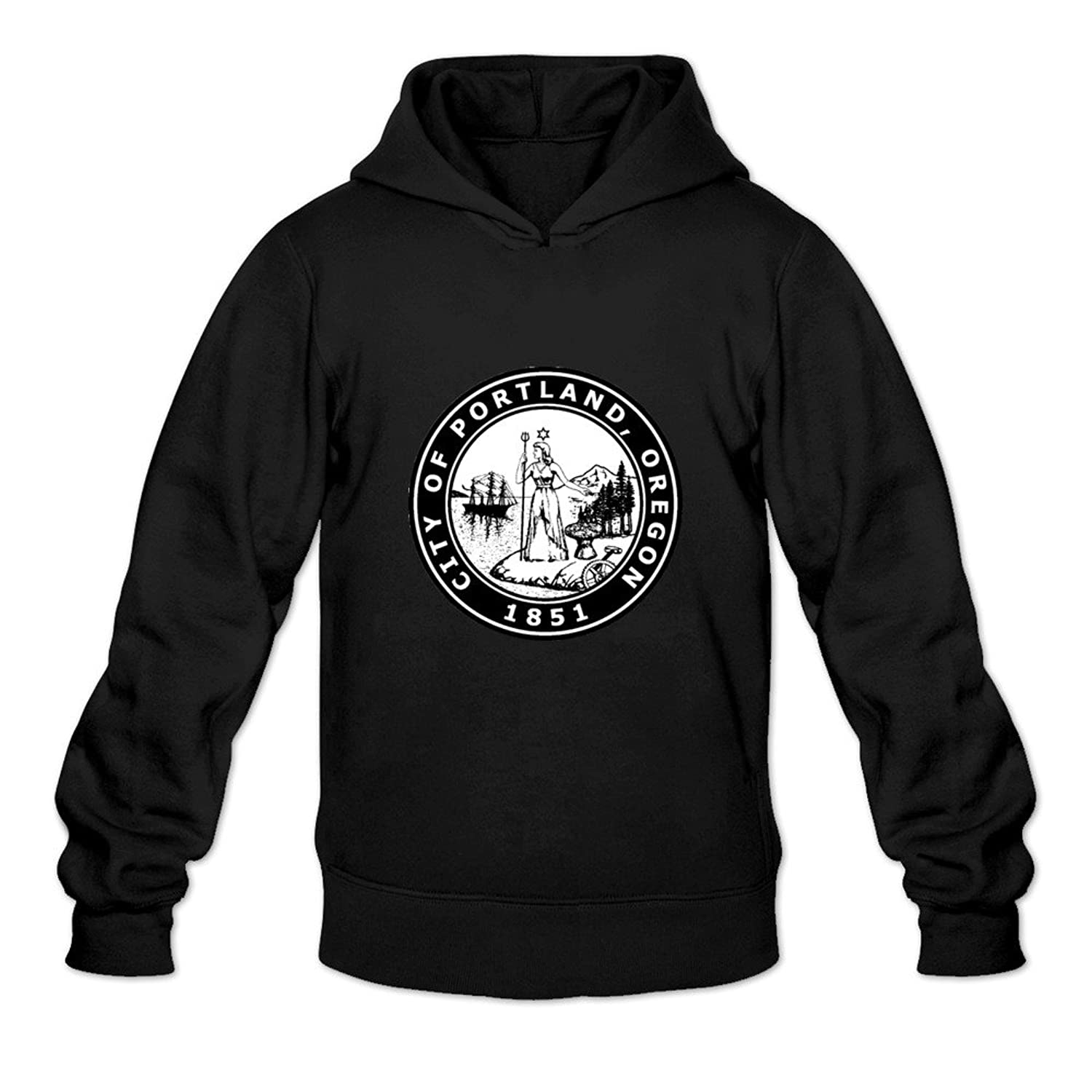 portland city seal awesome oneck long sleeve hoodie for