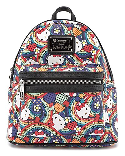 Loungefly x Hello Kitty Abstract Rainbow Mini Faux Leather (Hello Kitty Mini Backpack)
