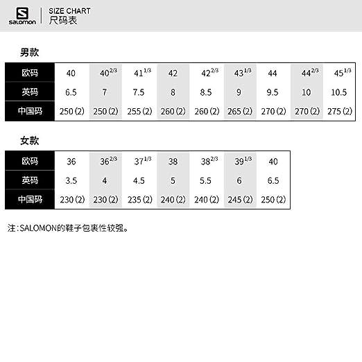 salomon speedcross 3 size chart traduccion