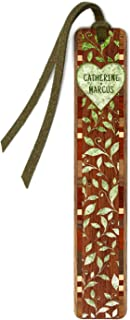 product image for Personalized Heart with Vines Handmade Wooden Bookmark with Suede Tassel