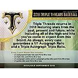 2018 Topps Triple Threads Baseball Hobby Box (2 Packs/7 Cards: 1 Auto, 1 Relic)