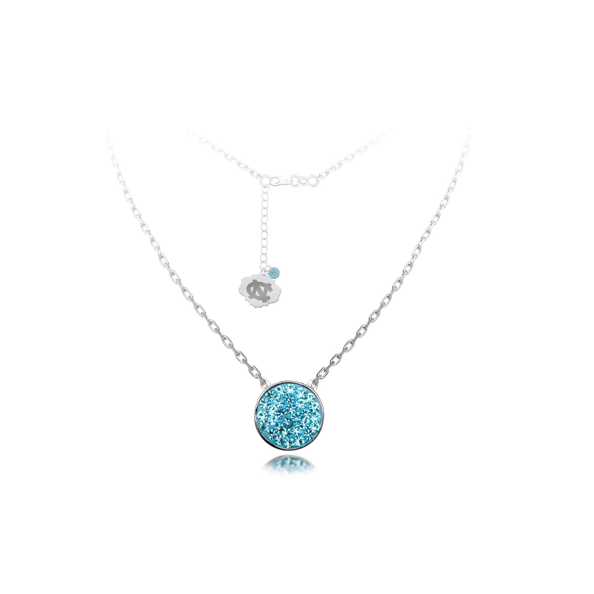 DiamondJewelryNY Silver Pendant, Spirit Disc Nk/Univ Of N Carolina
