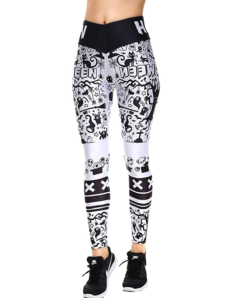 856900f57111 JW 3d Fashion Leggings Sexy Halloween Christmas Gift Pink Leopard Casual  Pants Spring and Autumn Pants at Amazon Women s Clothing store