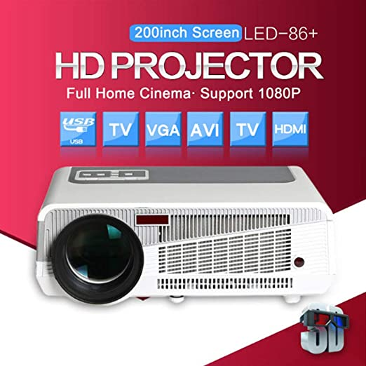 ZCCZ-AA Led86 proyector + WiFi Wireless Edition WiFi HD 1080p ...