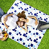 Hewolf Waterproof Picnic Blanket 79×79 Foldable Picnic Mat for Picnic Camping Hiking Grass Beach Travelling